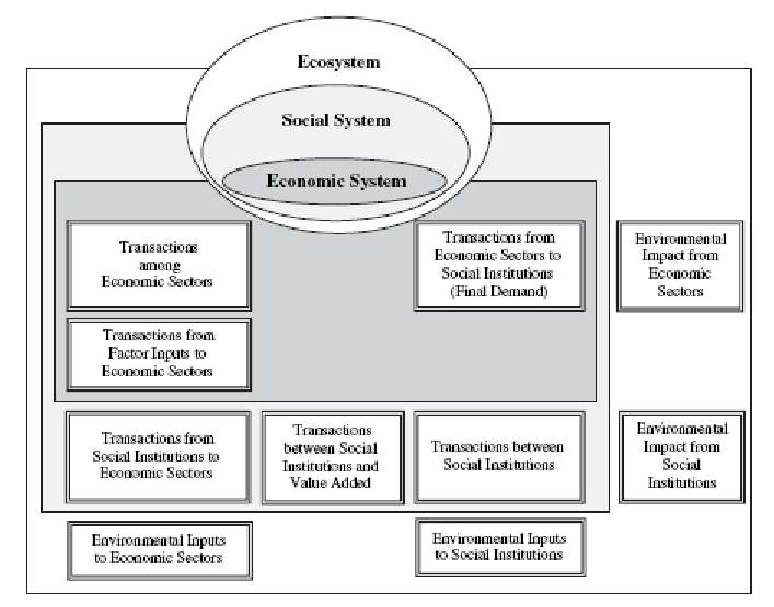 An Ecological Economic View of Nested Systems of Accounts