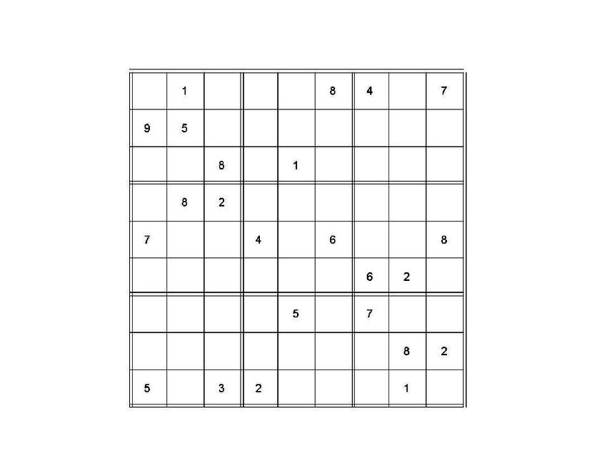 a difficult sudoku puzzle