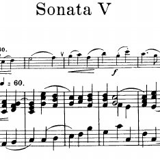 A sample of Common Music Notation: Handel's Sonata V for