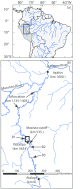 Map Of The Ucayali River In Peru A Northern South America With Major Download Scientific Diagram