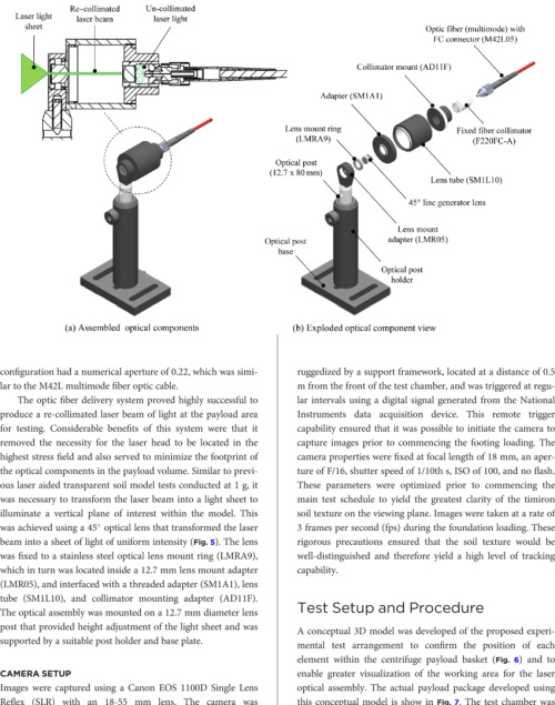 small resolution of optic lens assembly within the centrifuge payload a assembled optical components and