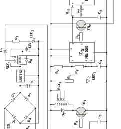 circuit diagram of a simple and reliable touch activated security system [ 850 x 1374 Pixel ]