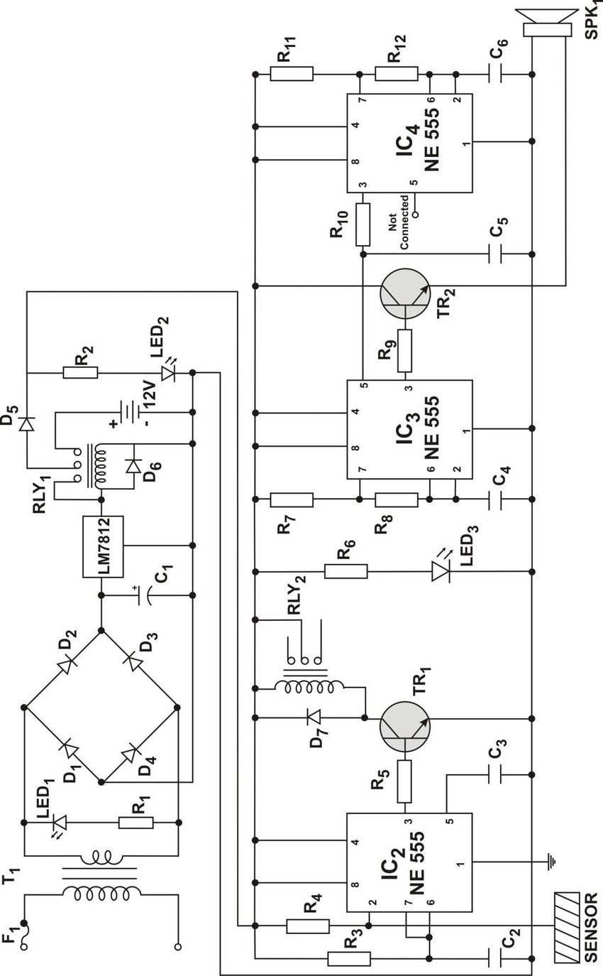 hight resolution of circuit diagram of a simple and reliable touch activated security system