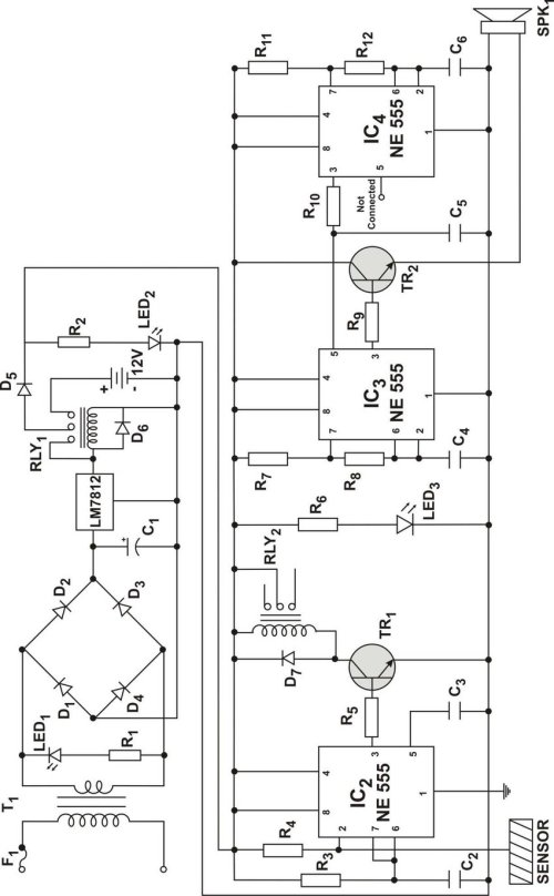 small resolution of circuit diagram of a simple and reliable touch activated security system