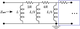Semi-inductor lumped circuit model via ladder network