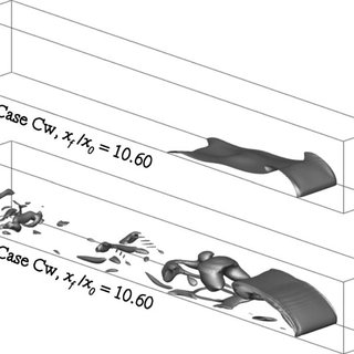 Isosurfaces of left the computed density of 0 + / 2 and
