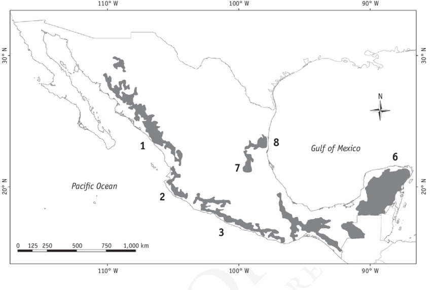 2 Jaguar Conservation and Management Areas (JCMAs) in
