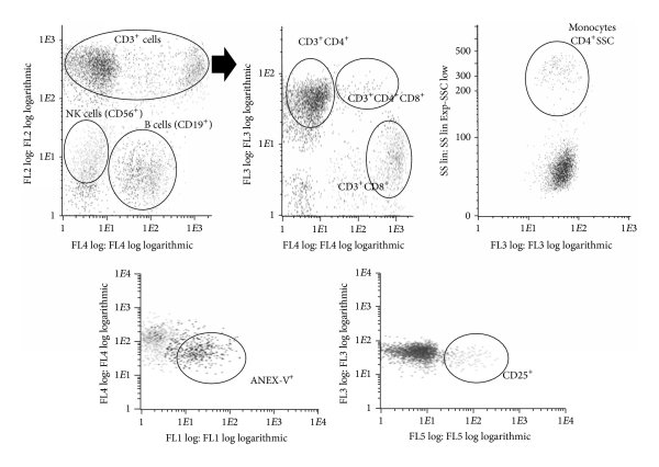 Characterization of cellular subpopulations analyzed by