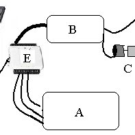 Diagram of the interface stage using the HMC1001 amplifier