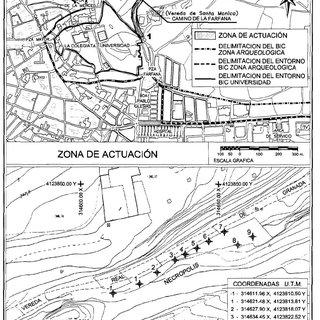Plano de situación (arriba). Ubicación de los sondeos
