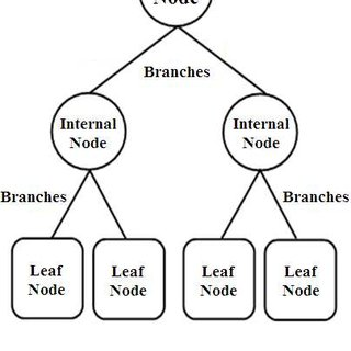 (a) describes the components of a decision tree: the Nodes