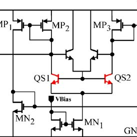 Schematic of the single-ended cascode LNA with inductive