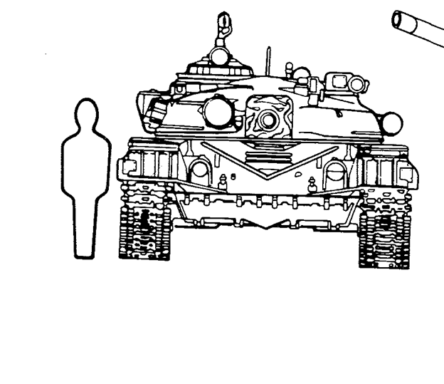 Frontal Views of a Russian T-72 and an U.S. M1A1 Abrams