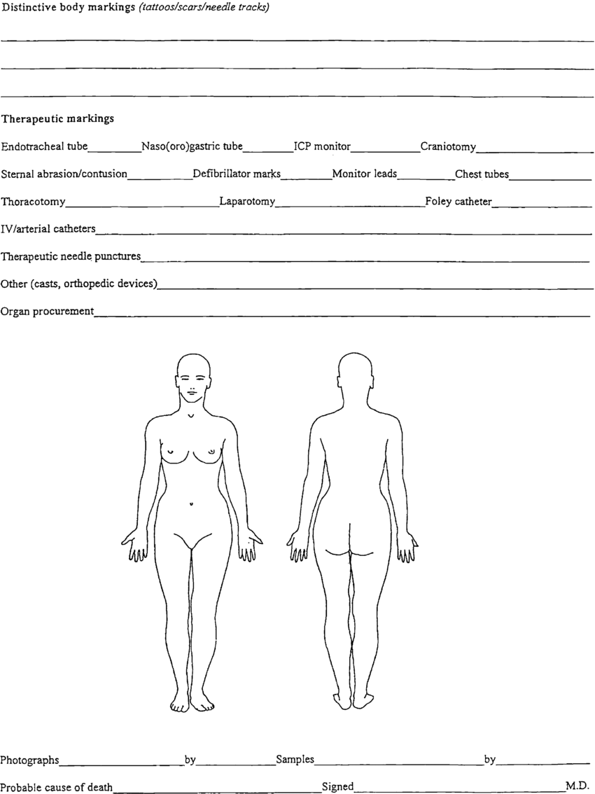 hight resolution of forensic body chart courtesy of king county medical examiner s office harborview medical center