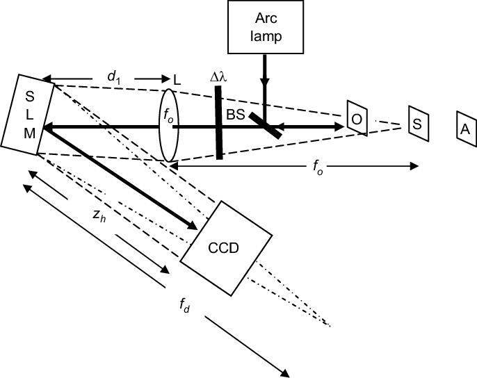 Schematic of FINCH recorder. BS, beam splitter; SLM