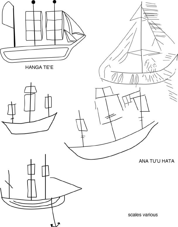 Rapa Nui petroglyphs showing European and hybrid vessels
