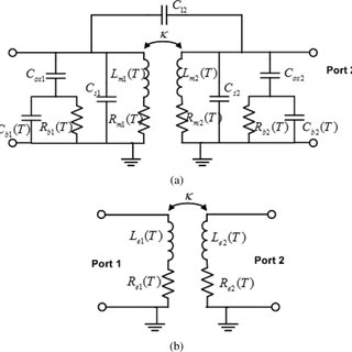 Equivalent-circuit model for a center-tapped interleaved