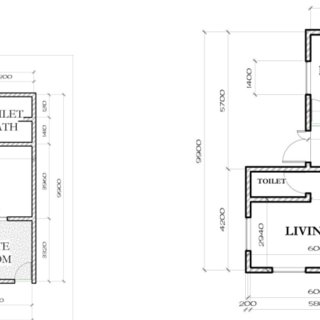 Floor plan of typical 2 bedroom flat, Kundila Housing