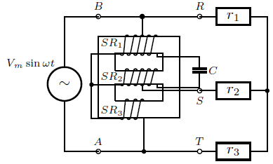 Practical circuit of single-phase to three-phase converter