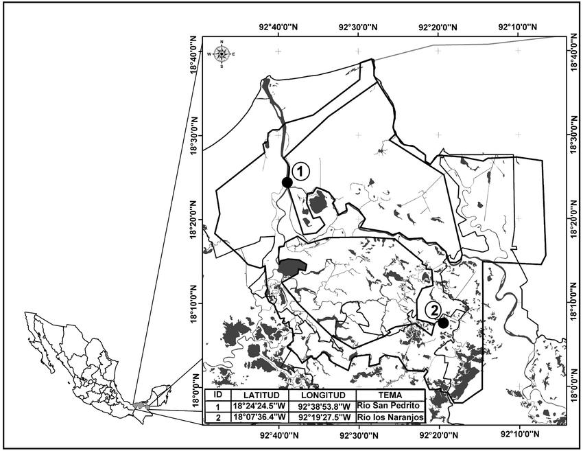 Área de estudio Reserva de la Biosfera Pantanos de Centla