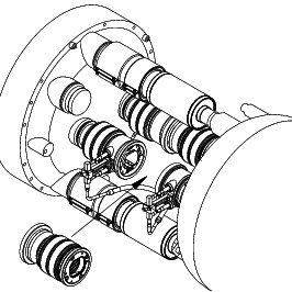 -Special beam screen extremity assembly for vertically