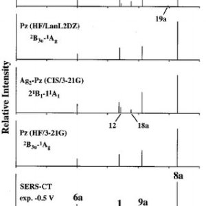 Raman spectrum of the aqueous solution and SERS of