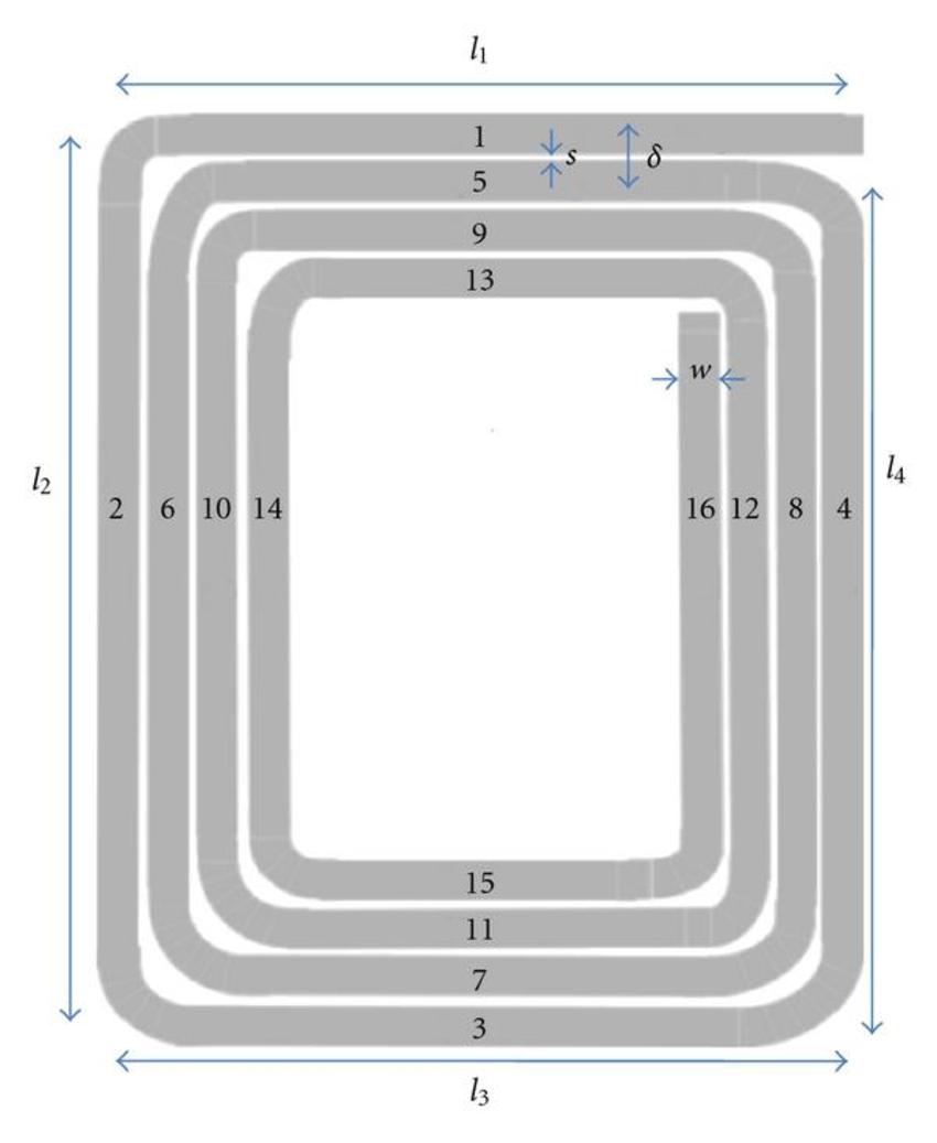 Rectangular Planar Spiral Inductor Download Scientific