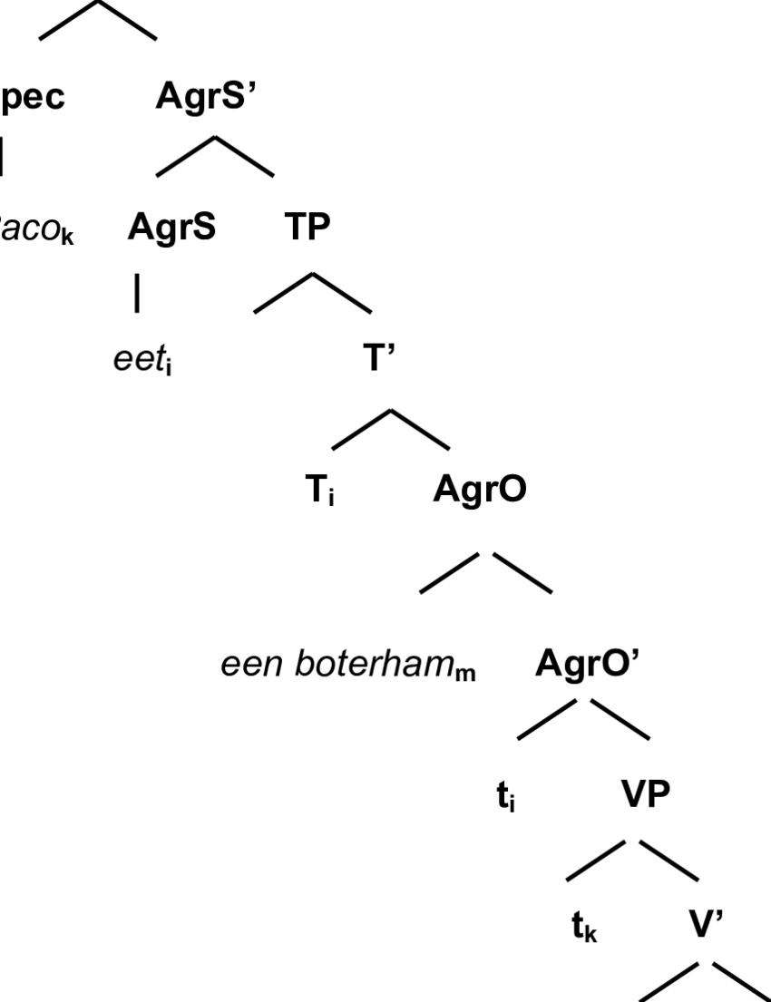morphology tree diagram 94 cherokee radio wiring syntax best library a of the sentence paco eet een boterham