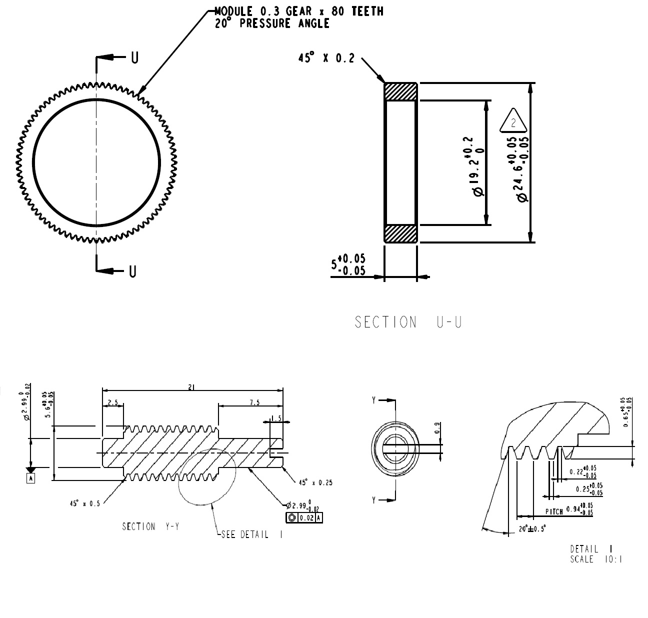 Worm Screw And Spur Gear Or Straight Cut Gear Make
