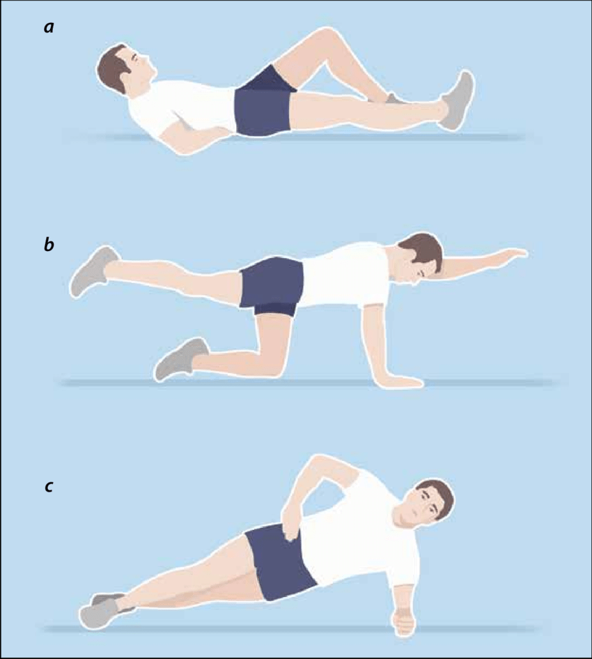 hight resolution of core stability exercises