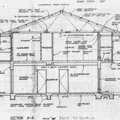 Architecture Section Diagram 50 Amp Gfci Breaker Wiring 1 Architectural Cross Of The Two Storey House Used For Reinforced