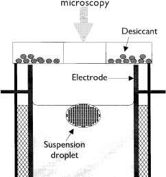 schematic of the colloidal crystallization cell with a suspension droplet as template  [ 811 x 1004 Pixel ]