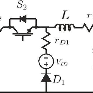 5 Principal scheme of the battery impedance measurement