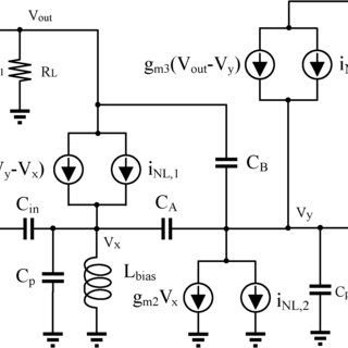 Schematic of the proposed LNA with the buffer (biasing not