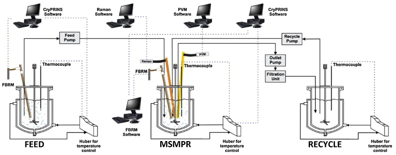 Schematic of PMSMPR crystallizer used for the periodic