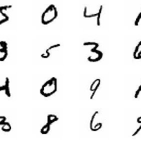 Samples from the MNIST data set of handwritten digits