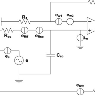 Schematic diagram of chopper stabilized amplifier. The red