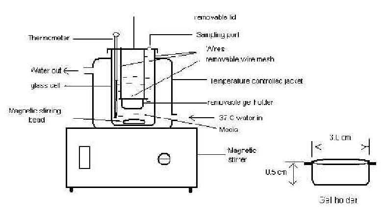 Schematic Diagram of DissolutionStudy Apparatus 100 80 60