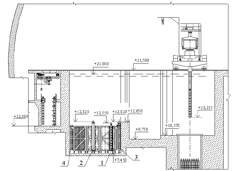 Schematic of the Spent Fuel Pool and Elevations. 1-fuel