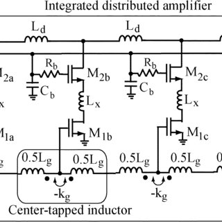 Equivalent circuit of the gate line with: (a) coupled