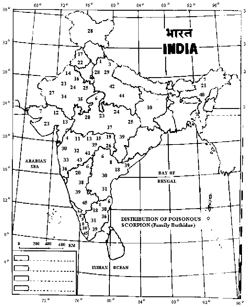 hight resolution of geographical distribution of scorpions legends to figure 1 geographical distribution of scorpions of medical