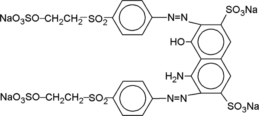 Molecular structure of the dye Reactive Black 5 (RB5