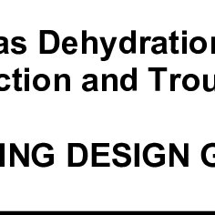 (PDF) NATURAL GAS DEHYDRATION SYSTEMS SIZING, SELECTION