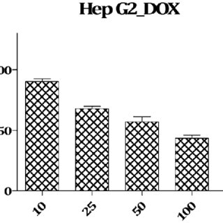 Viability of HepG2 cells incubated in the presence of