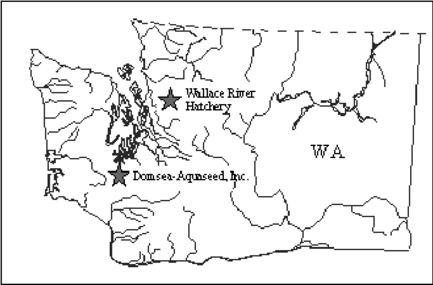 Map of Washington State with the locations of Wallace
