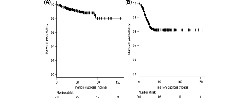 Overall survival (OS) and progression-free survival (PFS