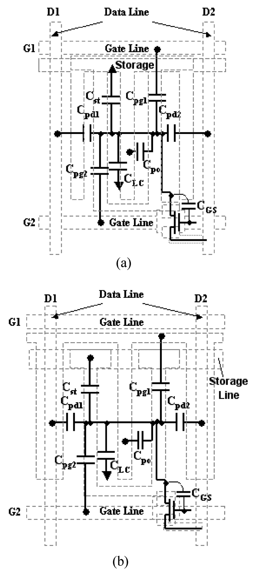 Equivalent circuit for capacitive-coupled transmission