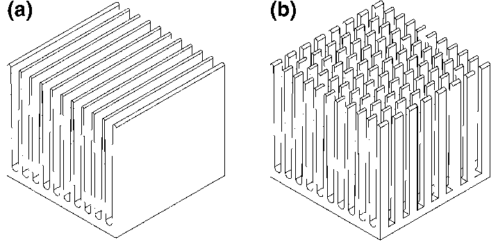 Thermal interfaces (heat sinks) connecting the harvester