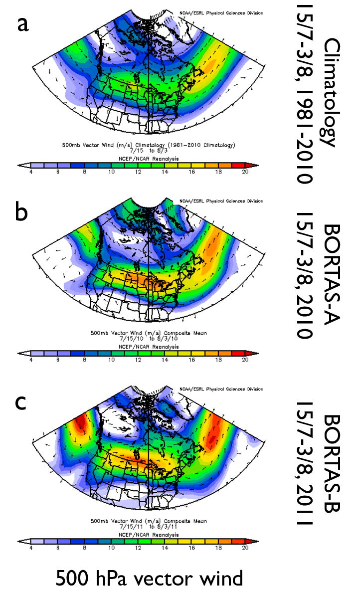 medium resolution of climatological mean 500 hpa wind vector m s 1 over north america download scientific diagram
