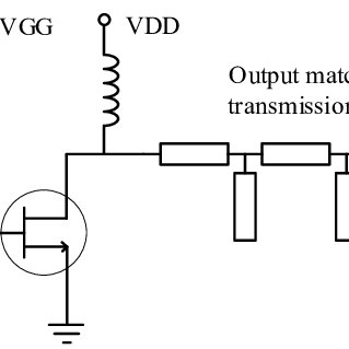 A class F amplifier circuit with the input and output